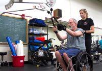 حرکات ورزشی مناسب افراد معلول که از ناحیه دچار معلولیت شده اند و از ویلچر استفاده می کنند.